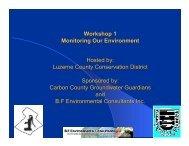 Workshop 1 - Center for Environmental Quality, Wilkes University