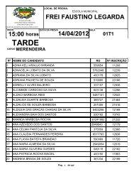 15:00 FREI FAUSTINO LEGARDA 14/04/2012 - FIBRA.