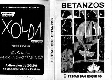 4?, FESTAS SAN ROQUE 95 - Hemeroteca Virtual de Betanzos