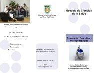 Orientación Educativa y Psicopedagógica - Escuela de Ciencias de ...