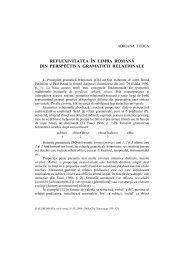 reflexivitatea în limba română din perspectiva ... - Dacoromania