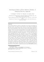 Searching for Rules to Detect Defective Modules: A Subgroup ...