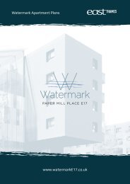 www.watermarkE17.co.uk Watermark Apartment Plans