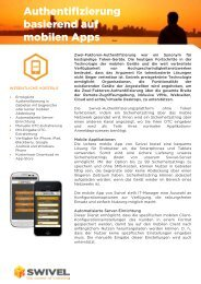 Authentifizierung basierend auf mobilen Apps - Swivel Secure