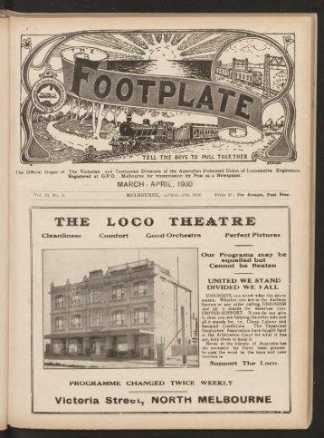 The Footplate: vol. 13, no. 3 (March-April, 1930)