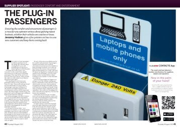 Passenger Comfort and Entertainment - RouteOne Magazine