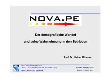Vortrag Prof. Dr. Minssen - Aog - Ruhr-Universität Bochum