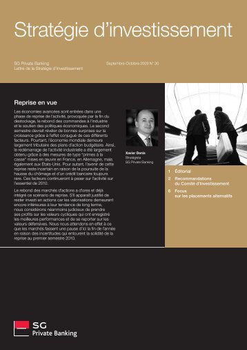 Stratégie d'investissement - Societe Generale Private Banking
