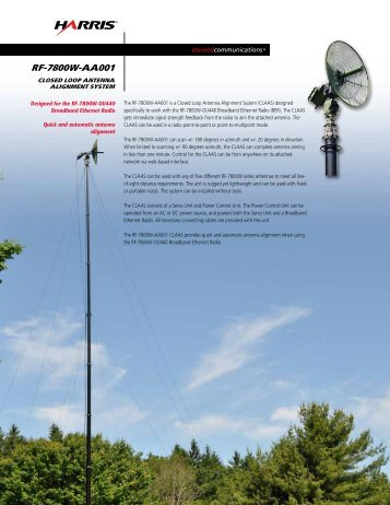 RF-7800W-AA001 Closed Loop Antenna Alignment System