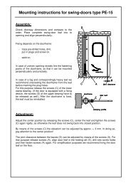 Mounting instructions for swing-doors type PE-15 - WICON ...
