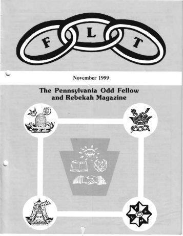 Nov - Grand Lodge of Pennsylvania, Independent Order of Odd ...