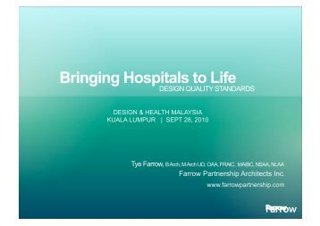 Bringing Hospitals to Life - the International Academy of Design and ...