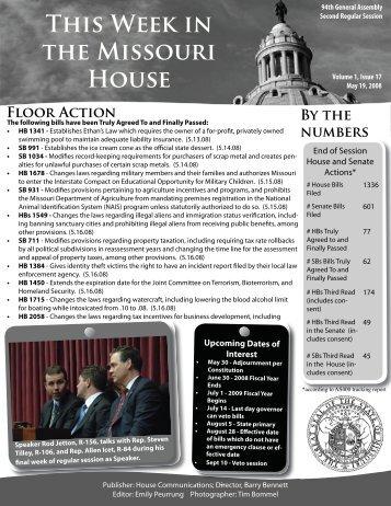 May 19, 2008 - Missouri House of Representatives