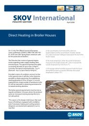 Direct Heating in Broiler Houses - Skov A/S