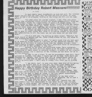 Happy Birthday Robert Mascaro