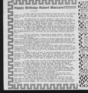 Happy Birthday Robert Mascaro