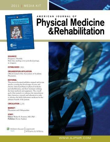 Physical Medicine &Rehabilitation - Lippincott Williams & Wilkins