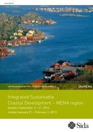 Integrated Sustainable Coastal Development – MENA region - Sida