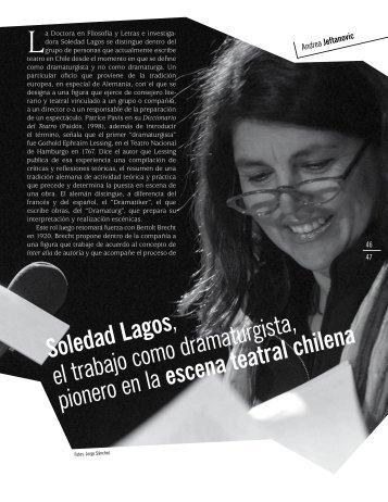 Soledad Lagos , el trabajo como dramaturgista, pionero en la ...