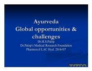 Ayurveda Global opportunities & challenges