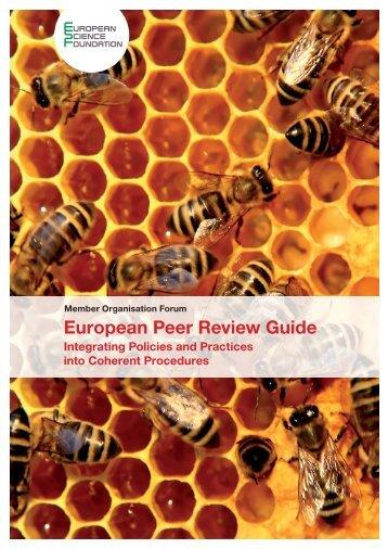 European Peer Review Guide - European Science Foundation