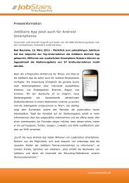 Neue JobStairs Android App