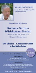 Kommen Sie zum Wörishofener Herbst! - Jürgen Fliege