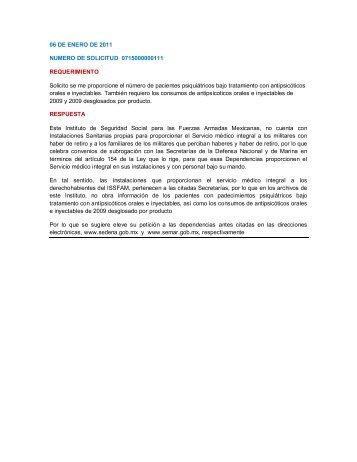 Resoluciones 2011 - Issfam