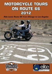 motorcycle tours on route 66 2012 - Elite Special Event Tours