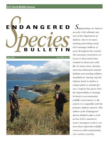 Endangered Species Bulletin - DoD Partners in Flight