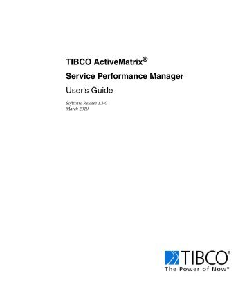 Service Performance Manager - TIBCO Product Documentation