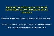 Esigenze Nutrizionali tecniche sostenibili di concimazione della ...