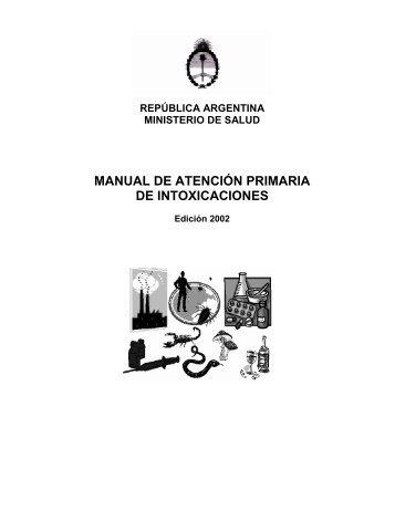 MANUAL DE ATENCIÓN PRIMARIA DE INTOXICACIONES
