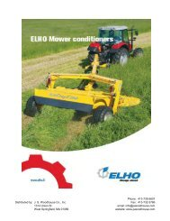 Mower Conditioners - JS Woodhouse