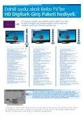 Dahili uydu alıcılı Beko LCD ve LED TV alana Şampiyonlar Paketi ... - Page 6