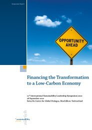 2010: Financing the Transformation to a Low-Carbon Economy