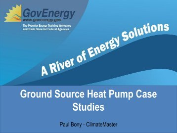 Ground Source Heat Pump Case Studies - GovEnergy