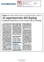 Al supermercato del doping - Comune di Firenze