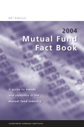 2004 Mutual Fund Fact Book - Investment Company Institute