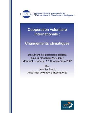 Changements climatiques - Unité