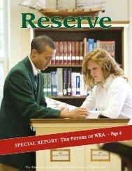 Spring 2010 - Western Reserve Academy