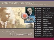 detailed historic timeline - Erie Insurance