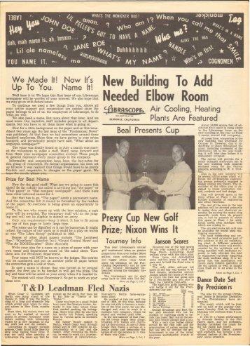 November, 1952 Librazette - Librascope Memories
