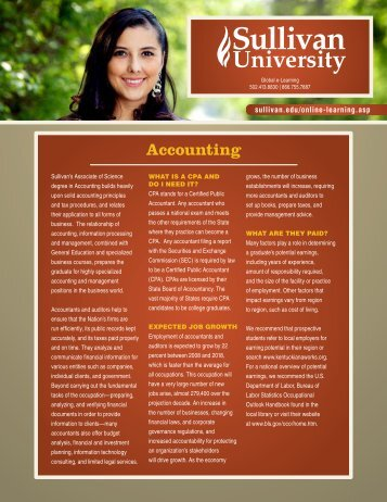 Accounting - Sullivan University
