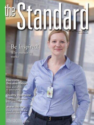 Standard, spring 2012 - College of Nurses of Ontario