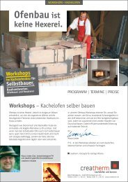Workshop I - Grundofen, Kachelofen, Kamine, Kachelkamine ...