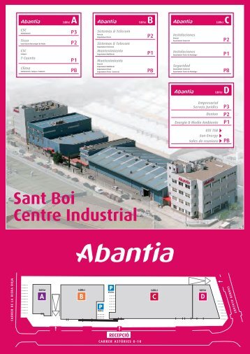 Mapa del Centre Industrial en format PDF - Abantia