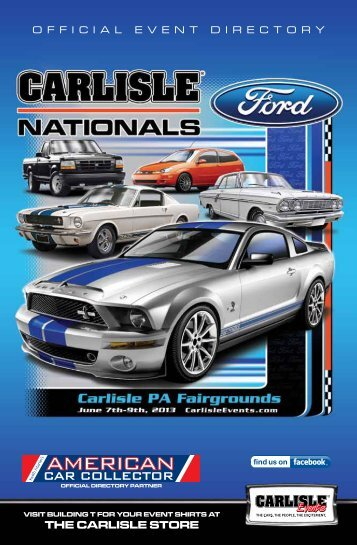 2013 Ford Nationals Directory - Carlisle Events