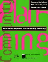 PAS Report: Youth Participation in Community Planning - American ...