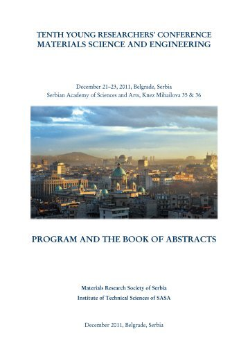 Program and the Book of Abstracts (PDF) - Mrs-serbia.org.rs